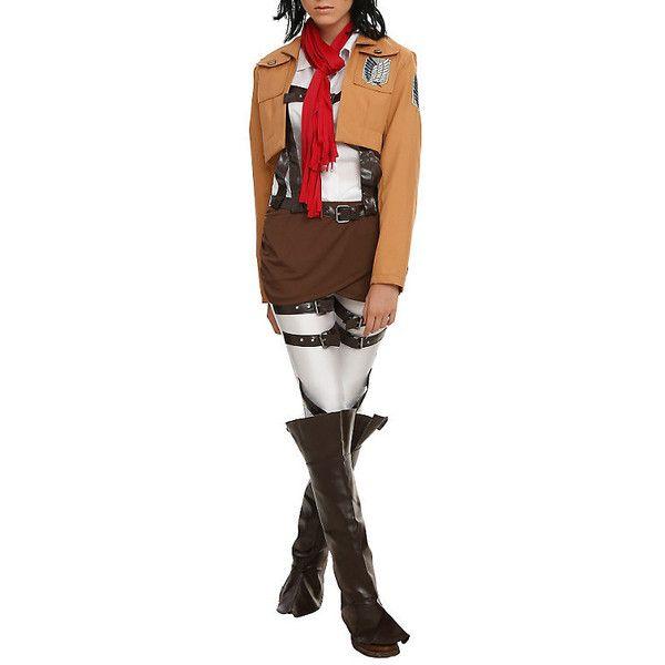 Attack On Titan Mikasa Ackermann Costume Hot Topic liked ...