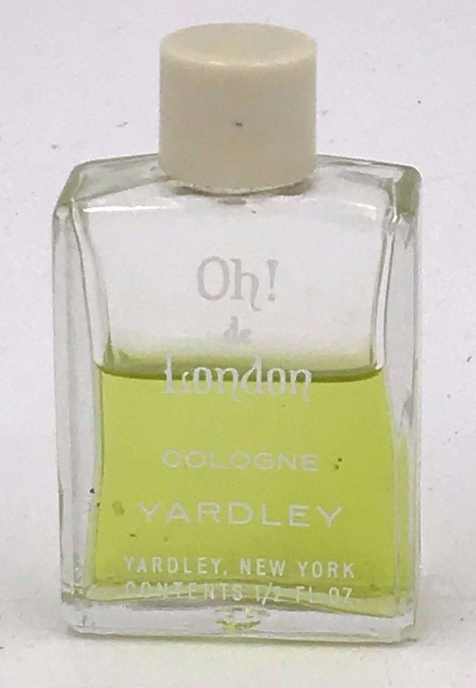 Vintage Oh! de London Cologne by Yardley NY 60% Partial .5 oz Small Bottle FR #Yardley