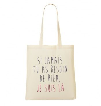 Totebag Femme Je Suis Là Naturel by Madame TSHIRT