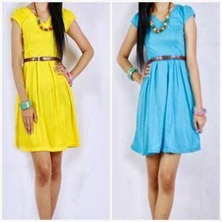 Dress Belt Motif Polos - Amelia Butik Online  Kode Produk : TAG21  Warna : kuning,biru Harga : 86.000  Detail :  • bahan koas strecht • leher V • aplikasi lubang sabuk • motif polos  Size : *Allsize *P:86cm *Lingkar dada:98cm  Kontak Amelia Butik : SMS : 0856-4063-4309 BBM : 275D50E5