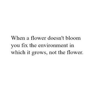 Fix the environment, not the flower