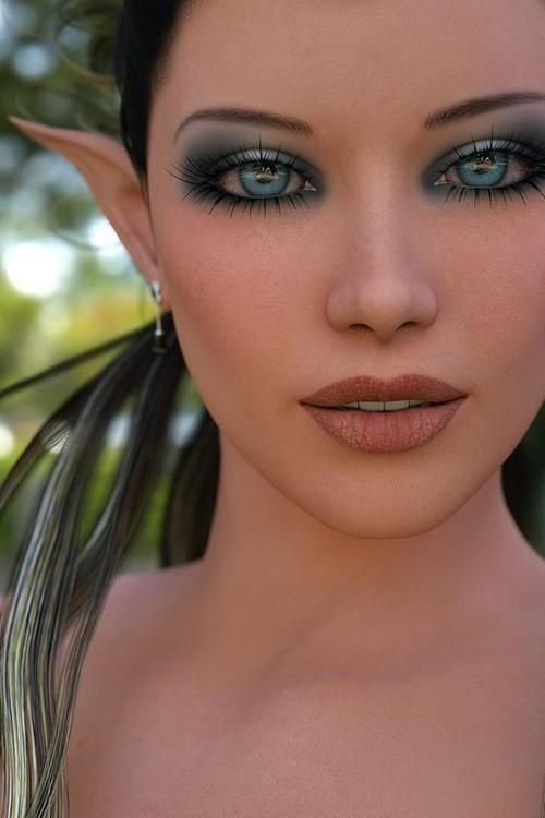 fantasia de elfo maquiagem