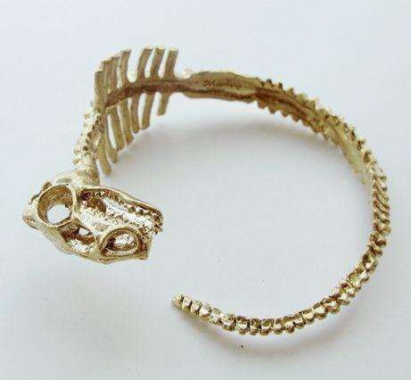 Dinosaur Skeleton Cuff Bracelet