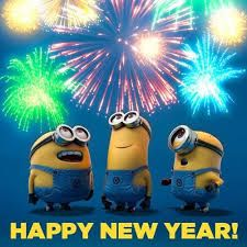 minions celebrate new year