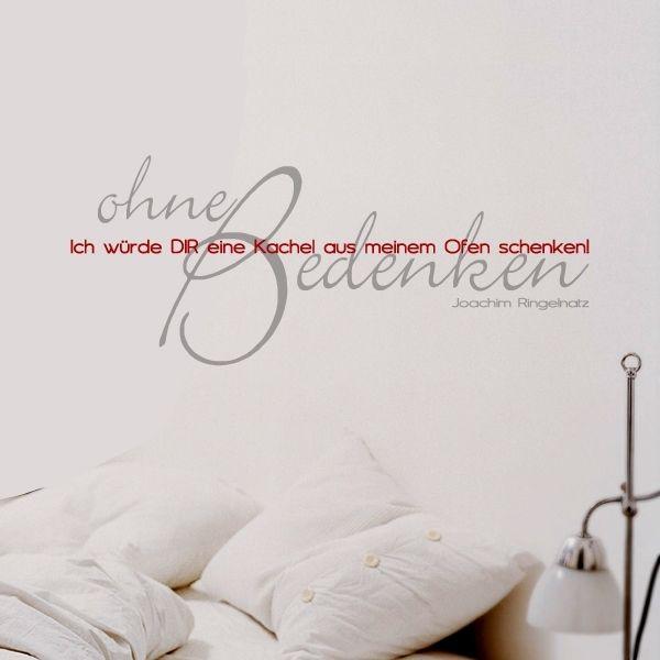 Wandtattoo Spruch, Zitat von Ringelnatz über die Liebe.
