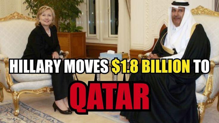 10/19/16 - WATCH - Hillary Clinton Moves $1.8 Billion To Qatar Central Bank