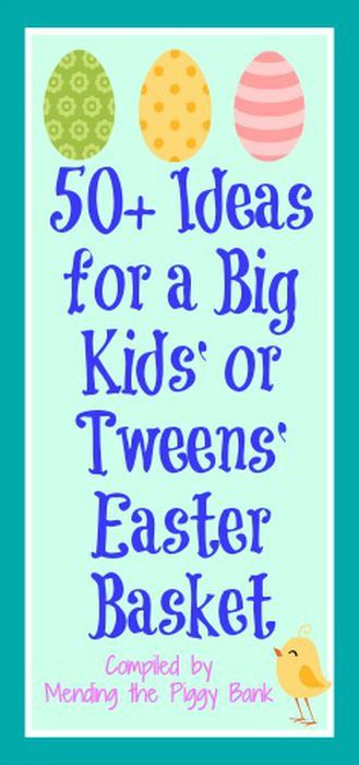 Mending the Piggy Bank | 50+ Ideas for a Big Kids' or Tweens' Easter Basket -- Make an amazing Easter basket for your older kids using these affordable suggestions!