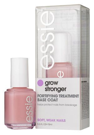 Essie Grow Stronger.  $8.00 at Walgreen's.  This stuff works great, and you DON'T have to apply it every day.