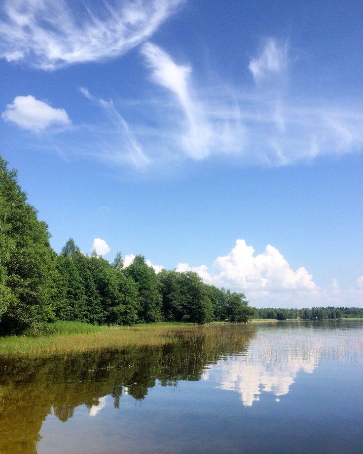 Hevossuonlahti, Eura. Lake view in Finland
