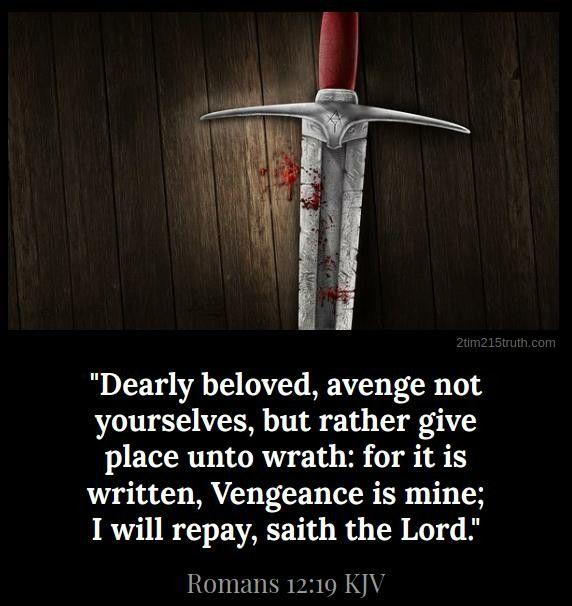 Romans 12:19 (KJV) | Word of God | Bible scriptures, Word of god ...