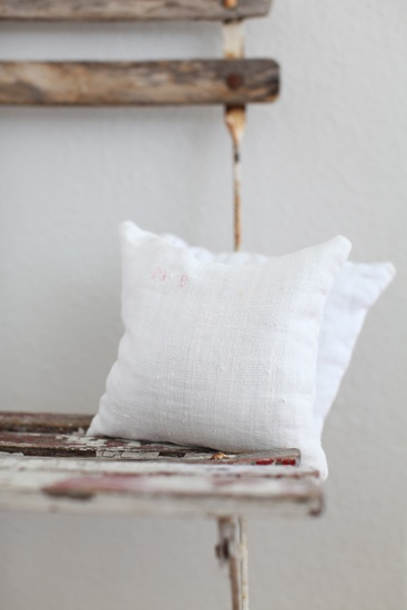 lavender pillows made w/ antique french linens