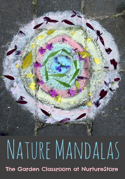 Great ideas for making nature mandalas for kids. A beautiful outdoor art project. By the Nurture Store. Pinned by Learning and Exploring Through Play