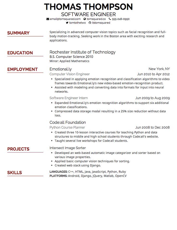 nursing resume font size