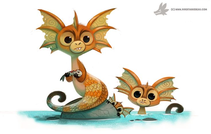 Daily Painting 887. Sea Monkey by Cryptid-Creations.deviantart.com on @DeviantArt