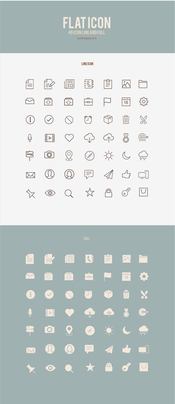Flat icon- part 1