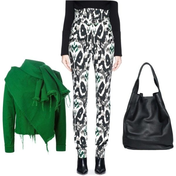 Casual high-waisted trousers by alisonstylecoaching on Polyvore featuring polyvore, fashion, style, Marques'Almeida, Isabel Marant and christopher. kon