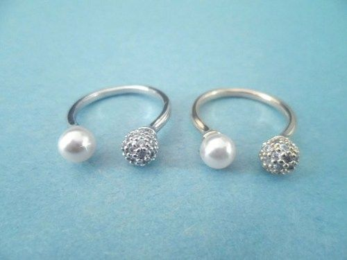 Unique Modern, Cubic Pearl, Silver or Gold, Ring   simplecrystal - Jewelry on ArtFire