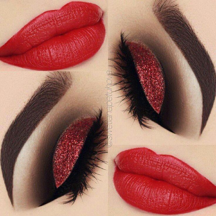 Maquillaje en rojos