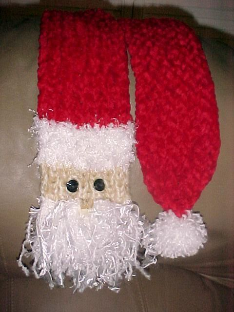 Santa Scarf pattern for knitting loom