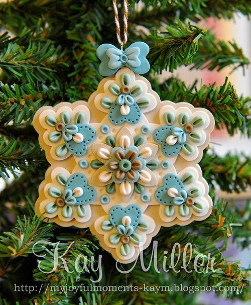 My Joyful Moments: Polymer Clay Ornaments (For inspiration on a DIY project)