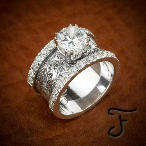 Engagement Rings Fit For A Cow Western Wedding