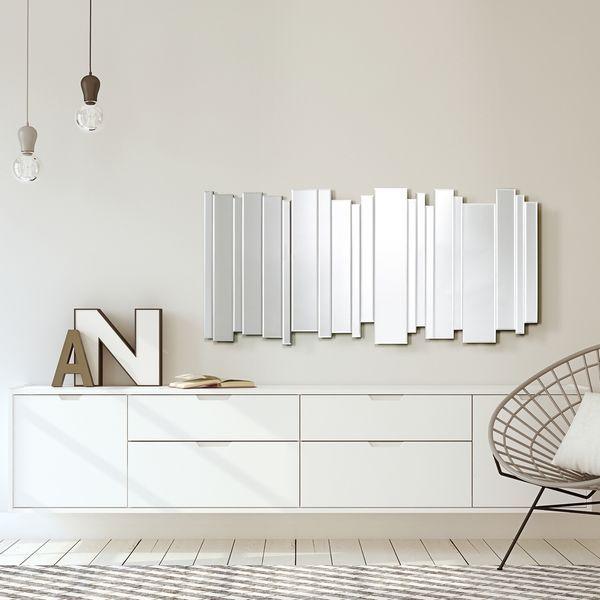 salon miroir mural design miroir
