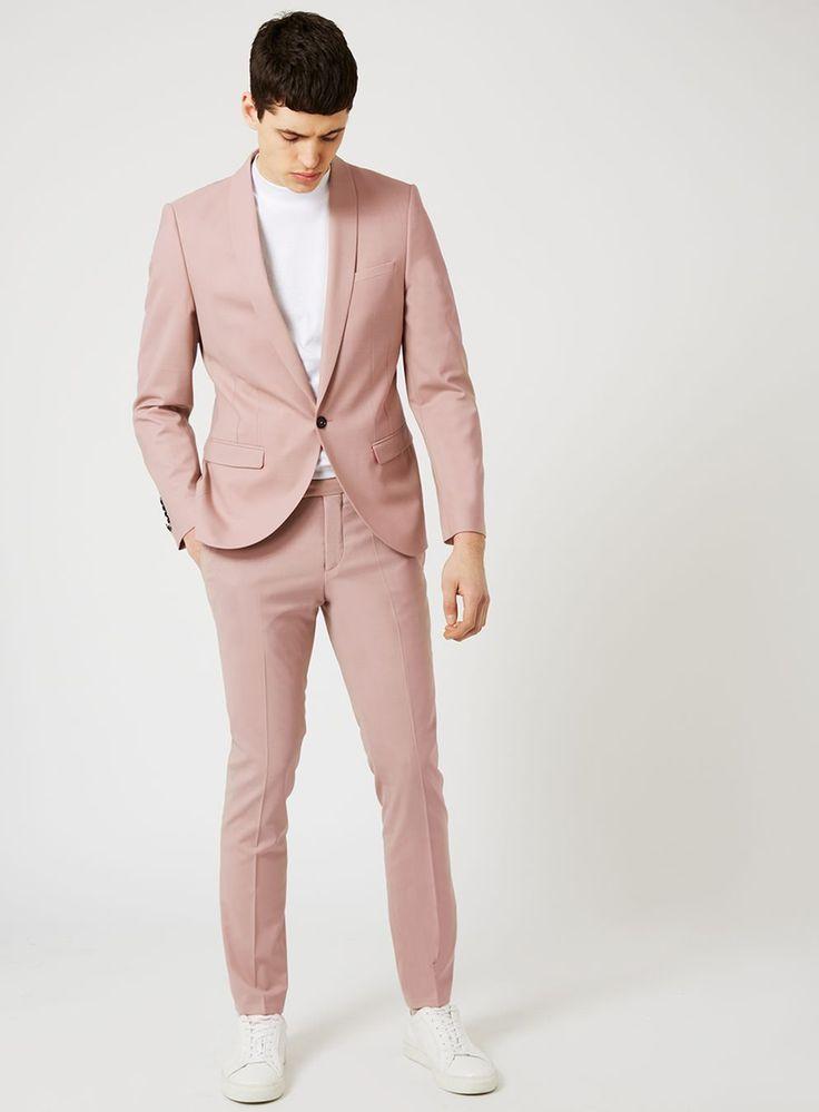 NOOSE & MONKEY Dusty Pink Skinny Fit Suit Jacket