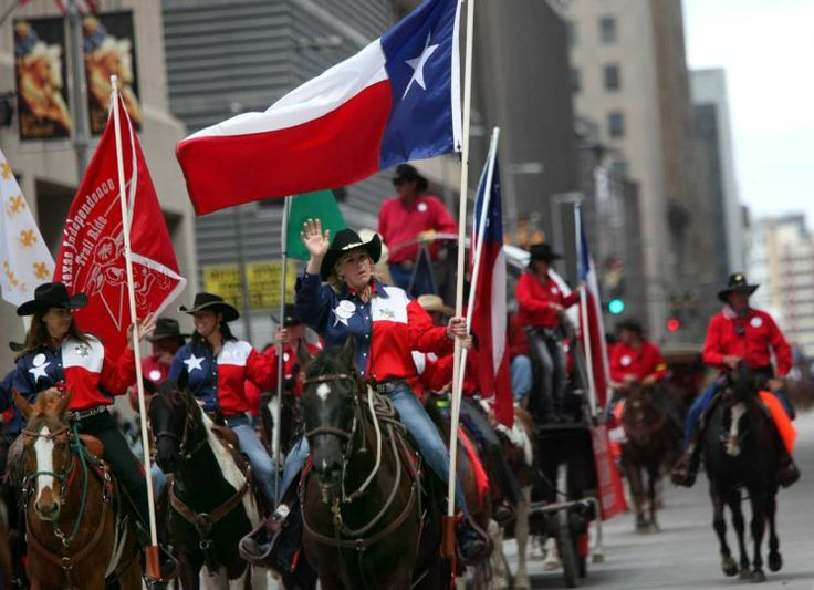 Texas Independence Trail Riders participate in the 76th Annual Houston Rodeo Parade. Follow our RodeoHouston coverage at Chron.com/rodeo.