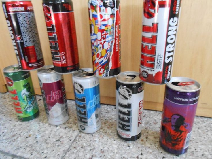HELL - ENERGY DRINK - LOT 9 EMPTY CANS - 4 ARE  LIMITED EDITION FROM CYPRUS