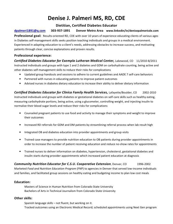 Registered Dietitian Resume Sample - http://resumesdesign.com/registered-dietitian-resume-sample/