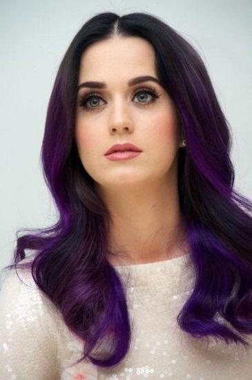 Тёмно-фиолетовый цвет волос