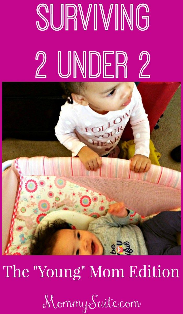 Real advice from a young(er) mom of 2 little ones, 19 months apart. Having 2 under 2 is not easy but watching your babies grow up together is so worth it!