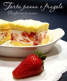 Torta panna e fragole http://blog.giallozafferano.it/graficareincucina/torta-panna-e-fragole/