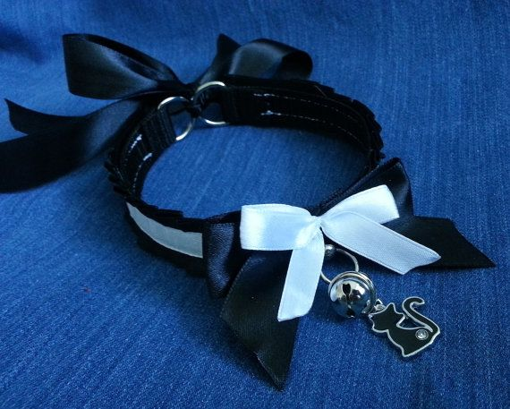 Maid kitten collar No. CHARMs INCLUDED BDSM by sweetsheepsecrets