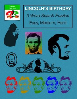 Abraham Lincoln's Birthday  Word Search puzzles for kids or adults. Word Search - US History Word Search. Three Word Search puzzles for Abraham Lincoln's Birthday or Black History Month. Medium Rosa Parks Day word search for elementary, and Hard Rosa Park