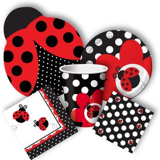 These adorable ladybug party supplies are brightly-colored, and lots of fun!