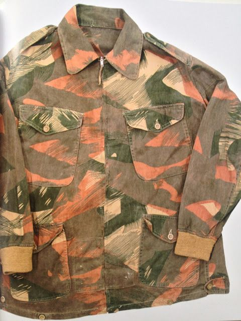 Camouflage print pattern | Green orange khaki | Army coat | vintage jacket.