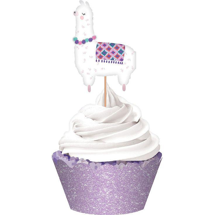 Glitter llama fun cupcake kit for 24 party city