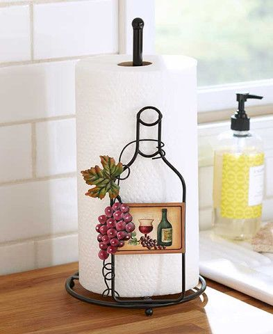 Wine Themed Kitchen Storage Racks Holders Tuscan Grape Decor