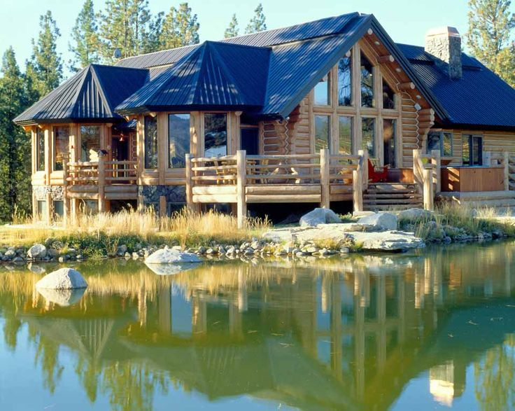 41 best images about log home exteriors on pinterest for Colorado mountain houses