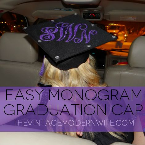 This blogger shows you step by step how easy it is to create your own monogram graduation cap using Microsoft Word. Not only can you use this tutorial for caps, but for ENDLESS things around the home!