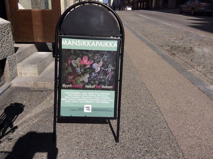 Tervetuloa Mansikkapaikkaan 8.7-30.7.2017 Galleria Nykyaika, Tampere, Finland (my image on poster)