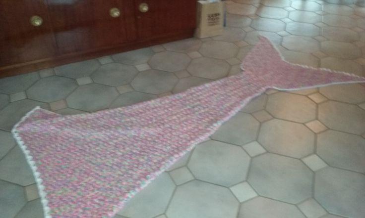 Elaine's Mermaid Blanket  Side view