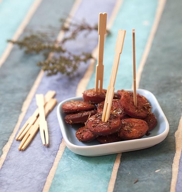 Chorizo grillé au thym - Une recette digne d'un bar à tapas espagnol !