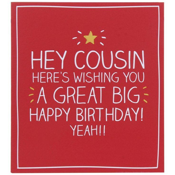 Hey Cousin Birthday Card