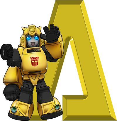 Alfabeto Decorativo: Alfabeto - Transformers 3 - PNG