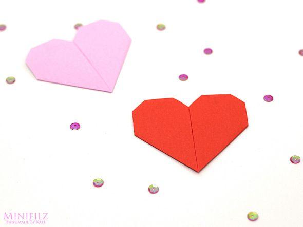 Anleitung: Origami Herz falten von MINIFILZ