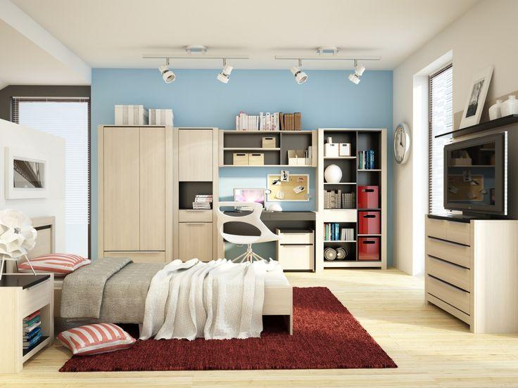 A tak może wyglądać królestwo młodego dorosłego :) #meble #furniture #kolekcja #collection  #inspiration #inspiracja #szynakameble #monez