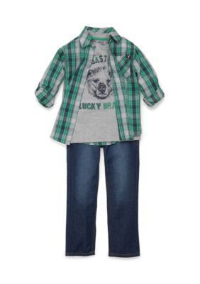 Lucky Brand  3-Piece West Coast Jeans Set Toddler Boys