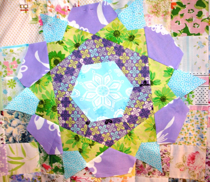 Rose Star Block-just too much fun!